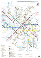 Moscow Metro map for Tender of Moscow Department of Transport and Road Infrastructure Development. 2012.