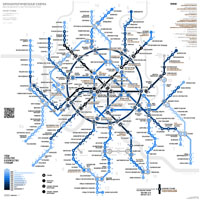 The chronological map of Moscow Metro