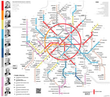 The political map of Moscow Metro
